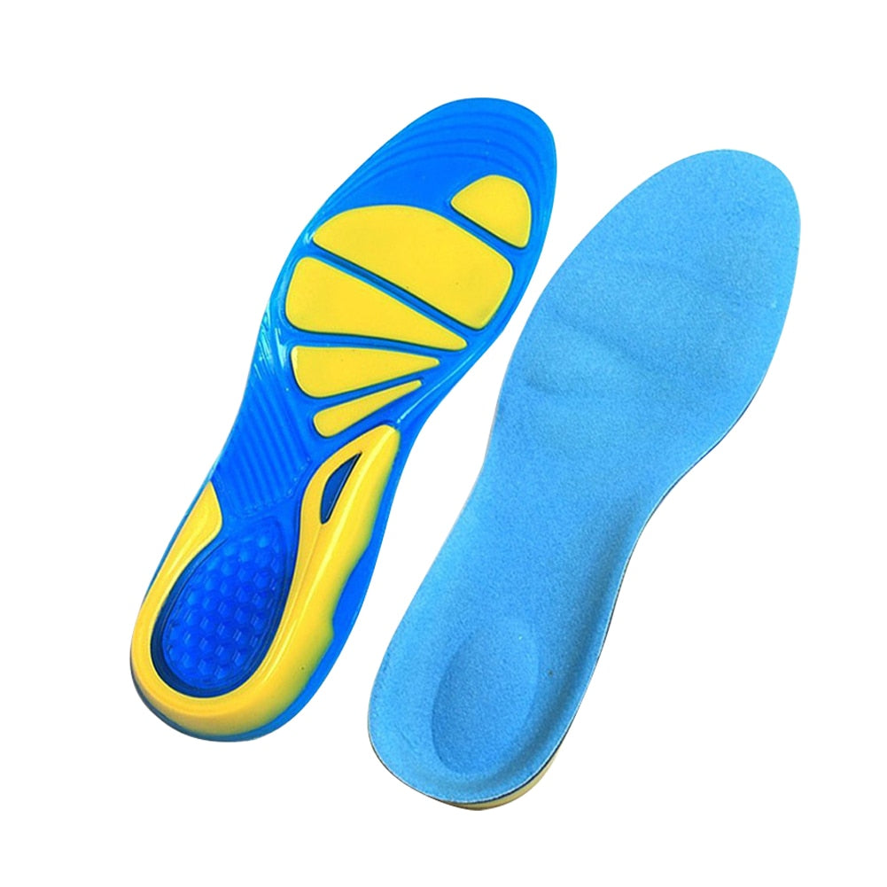 Soothing Relief - Silicone Insoles - Foot Care for Plantar Fasciitis - Orthopedic Massaging Shoe Inserts with Shock Absorption - Unisex
