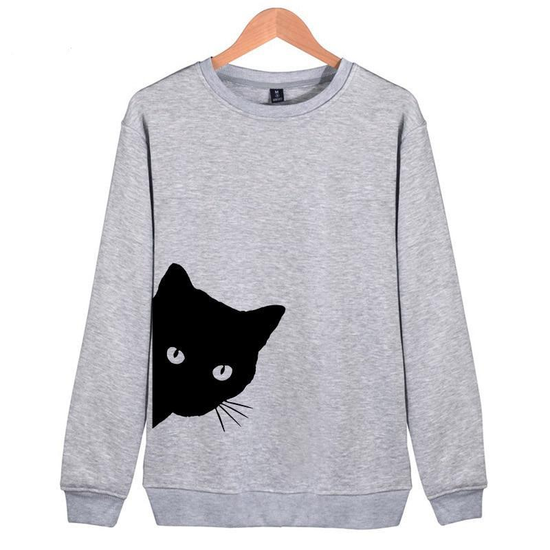 Peek-A-Boo Kitty Womens Sweatshirt