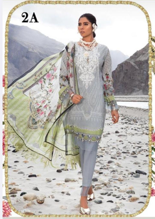 Grey Lawn Salwar Kameez-Suit - Maria B. - Trendz & Traditionz Boutique