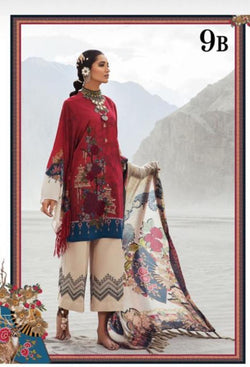 Maroon Salwar Kameez-Suit- Maria B - Trendz & Traditionz Boutique