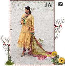Yellow Salwar Kameez-Suit- Maria B. - Trendz & Traditionz Boutique