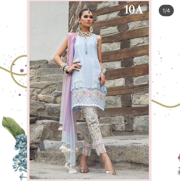 Baby Blue Salwar Kameez-Suit- Maria B. - Trendz & Traditionz Boutique