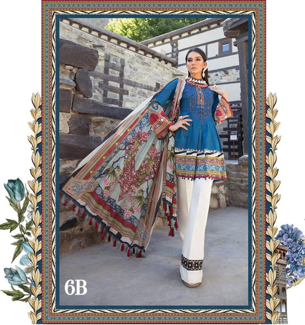 Blue Lawn Salwar Kameez-Suit- Maria B. - Trendz & Traditionz Boutique