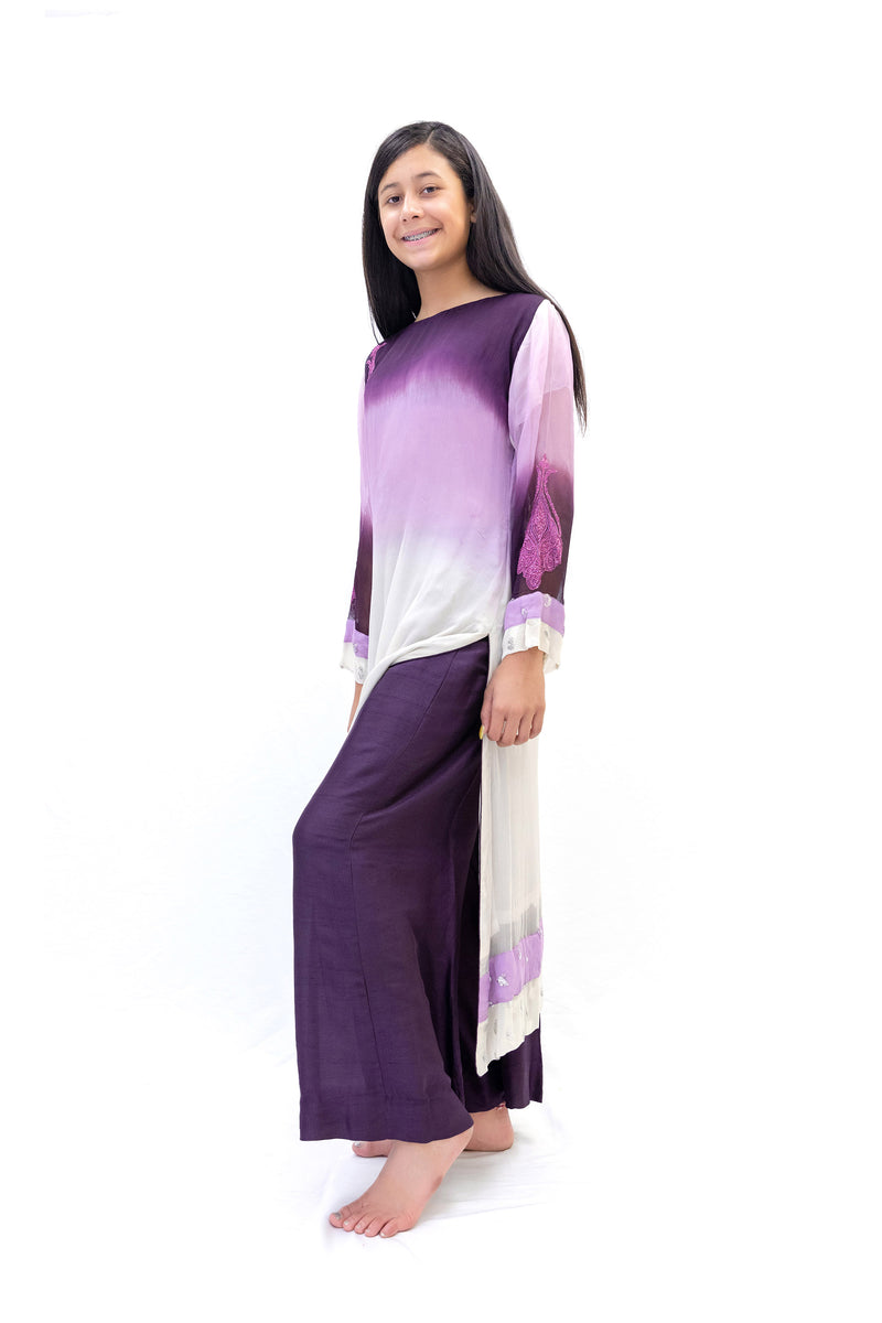 Purple Ombre Salwar Kameez- Rashnir Suit - South Asian Fashion