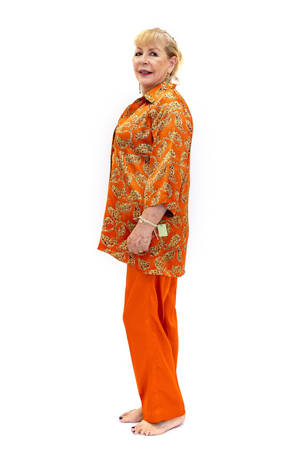 Orange Silk Salwar Kameez - Suit - South Asian Fashion