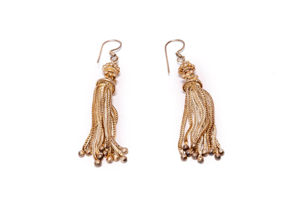 Golden Dangling Earrings - Trendz & Traditionz Boutique