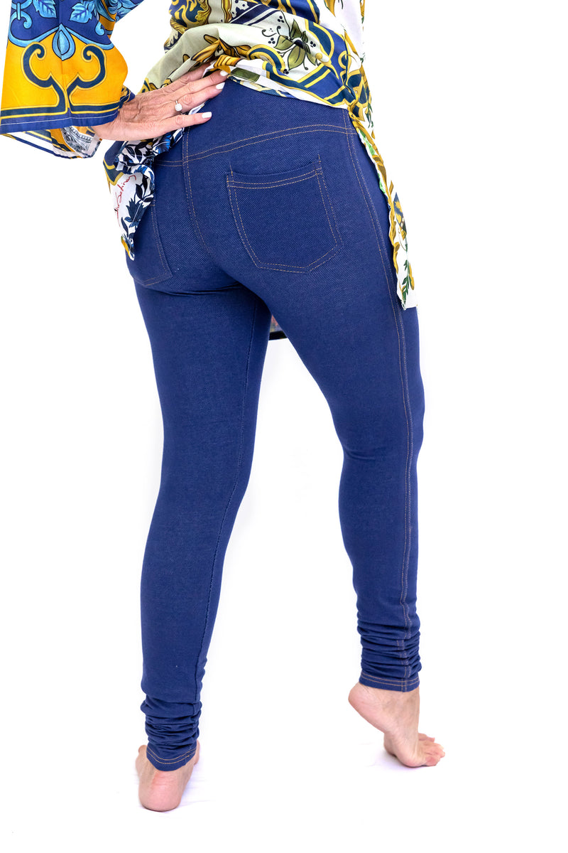 Dark Wash Jeggins - Navy Blue Leggings - Woman's Pants