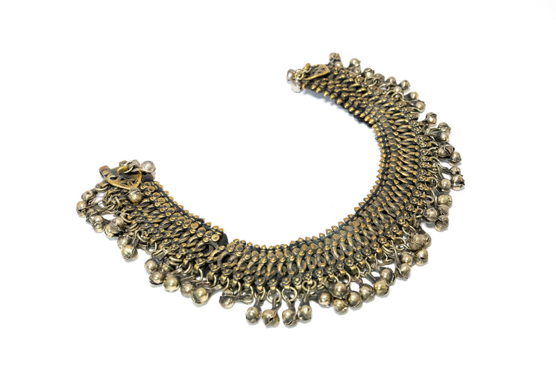 Traditional Indian Pakistani Metal Anklet - South Asian Accessories