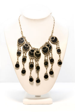 Black and Silver Necklace - South Asian Fashion & Unique Home Decor