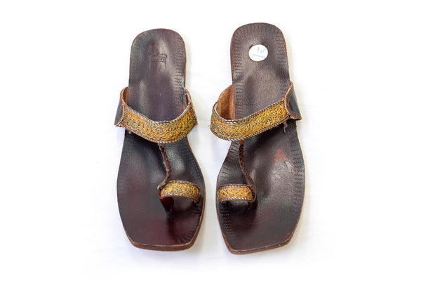 Leather Sandals - Kolhapuri Chappal - Trendz & Traditionz Boutique
