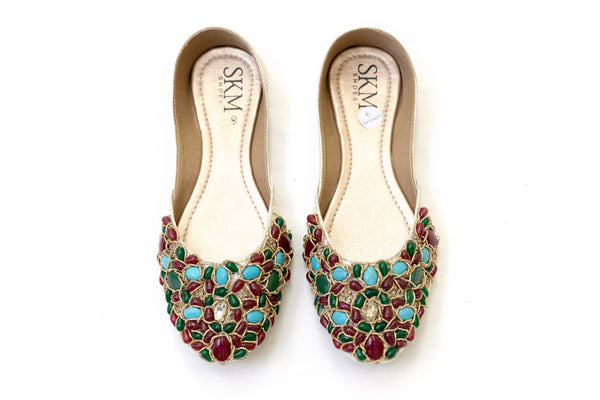 Jewel Embellished Jutti Khussa - Shoes - Women's - South Asian Fashion