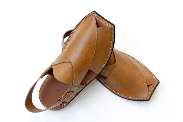 Light Brown Peshawari Chappal - Sandals - Men's - South Asian Fashion
