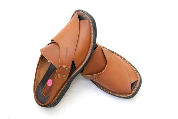 Brown Peshawari chappal - Men's Shoes - South Asian Fashion & Unique Home Decor