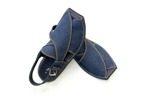 Blue Suede Peshawari Chappal - Sandals - Men's - South Asian Fashion & Unique Home Decor