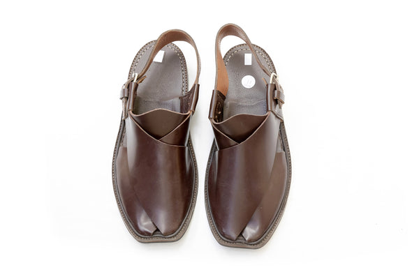 Deep Brown Peshawari Chappal- Sandals - Men's Footwear
