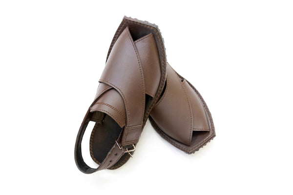 Brown Peshawari Chappal - Sandals - Men's - South Asian Fashion & Unique Home Decor