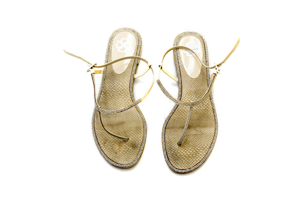 Metallic Silver Sandals - Women's Footwear - South Asian Fashion