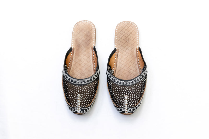 Black Jutti Khussa - Girl's Shoe - Trendz & Traditionz Boutique