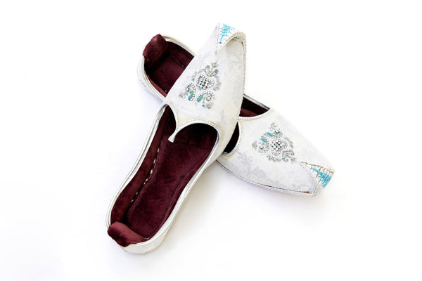 White Dulha Khussa - Shoes - Women's - South Asian Fashion
