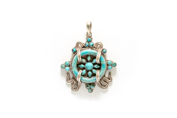 Tibetan Silver Pendant - South Asian Fashion & Unique Home Decor