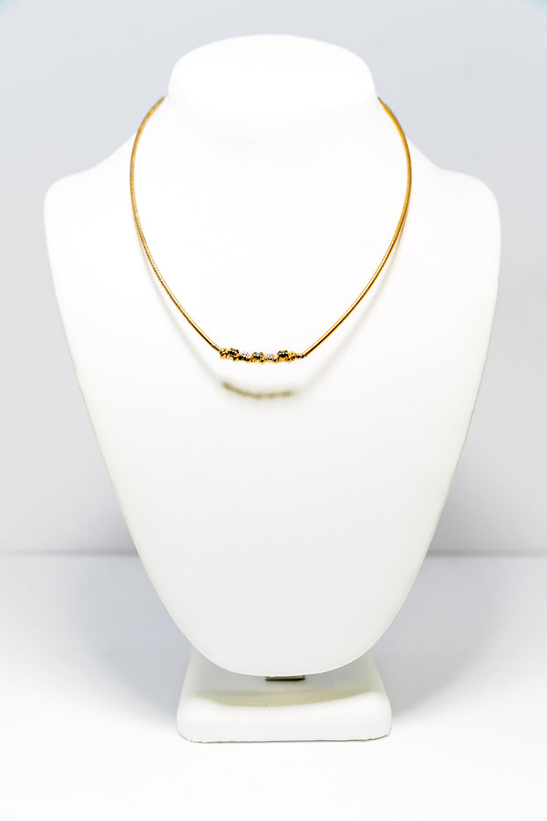 Simple Gold Necklace - South Asian Fashion
