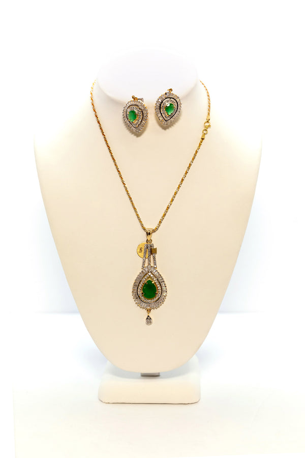 Green and Gold Jewelry Set - South Asian Fashion & Unique Home Decor