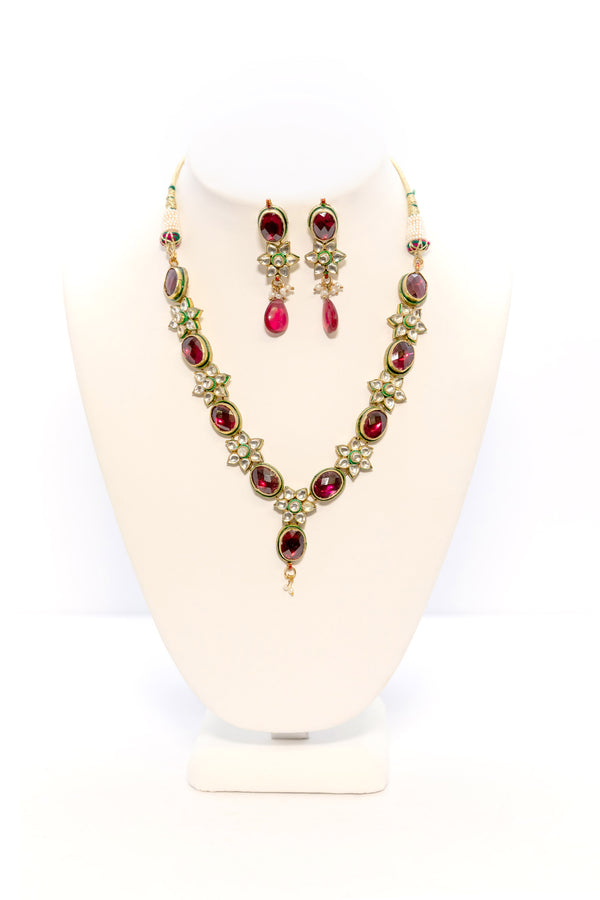 Red and Green Jewelry Set - South Asian Fashion & Unique Home Decor