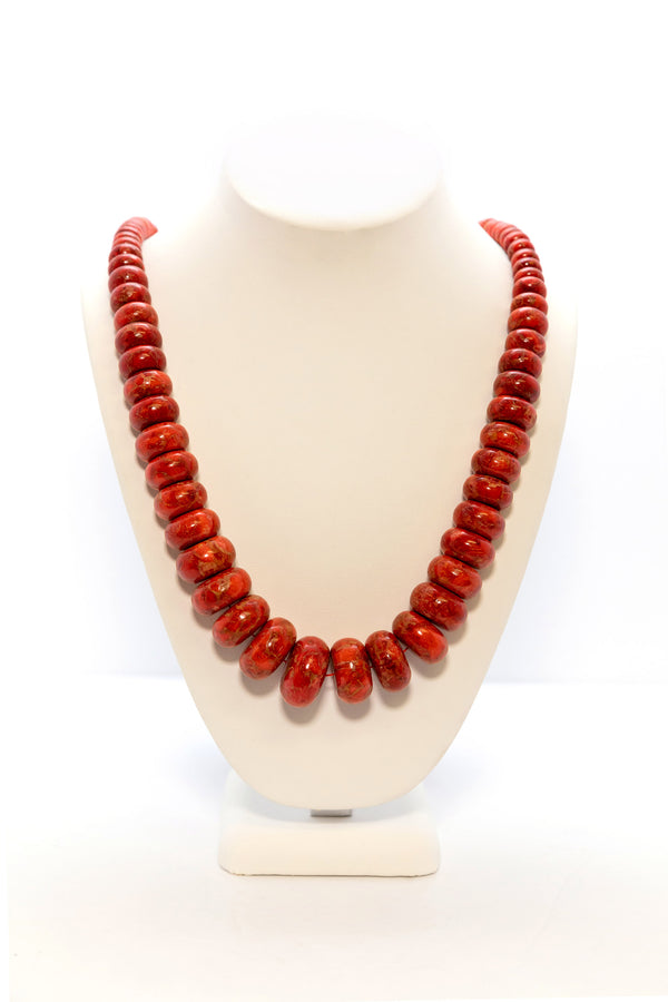 Coral Bead Stone Necklace - South Asian Jewelry and Accessories