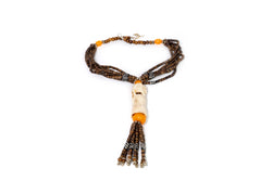 Tribal Wooden Beaded Necklace - South Asian Accessories