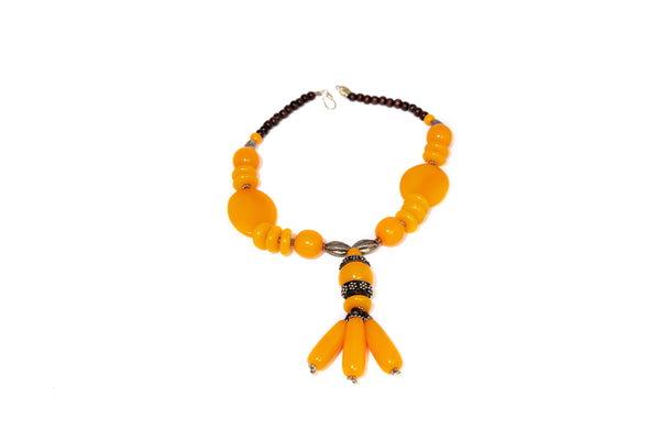 Orange Stone Statement Necklace - South Asian Jewelry & Accessories