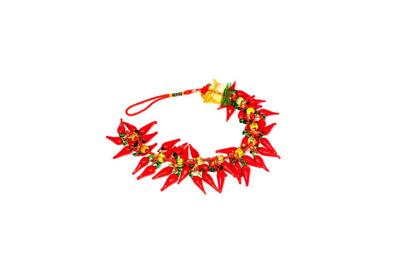 Glass Red Chili Pepper Necklace - Unique South Asian Fashion