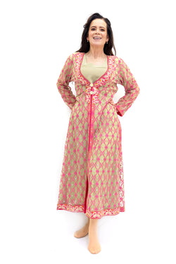 Pink Silk Salwar Kameez - Asim Jofa - South Asian Designer Fashion