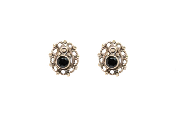 Silver Stud Earrings - Ethnic Jewelry - South Asian Fashion