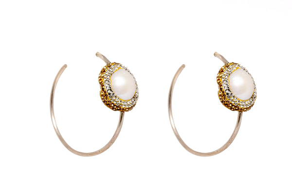 Classic Pearl Hoop Earrings - South Asian Fashion & Unique Accessories
