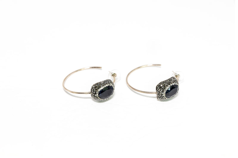 Turkish Silver Hoop Earrings - Traditional & Fine South Asian Jewelry