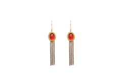 Turkish Silver Fringe Earrings - Traditional & Fine South Asian Jewelry