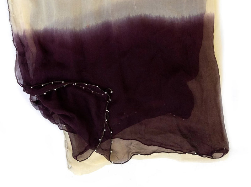 Purple Ombré Chiffon - Scarf - South Asian Accessories & Outerwear