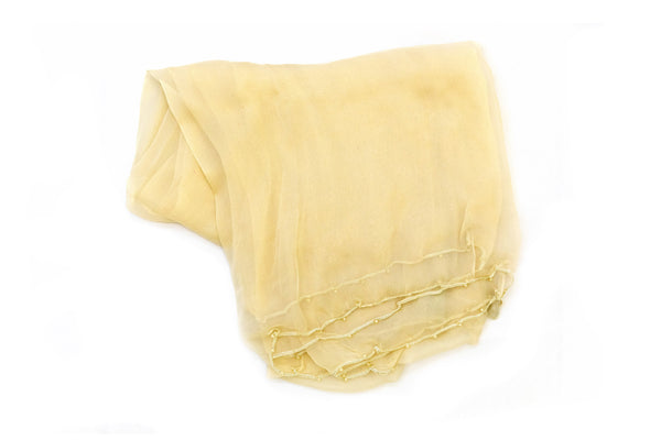 Creme Beige Chiffon Dupatta - Scarf - South Asian Accessories & Outerwear