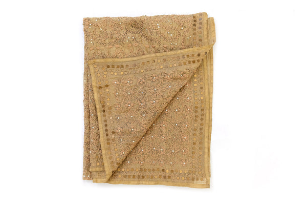Brown Cotton Shawl - South Asian Accessories & Outerwear