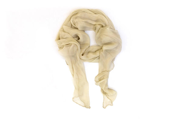 Creme Chiffon Dupatta - Scarf - South Asian Accessories