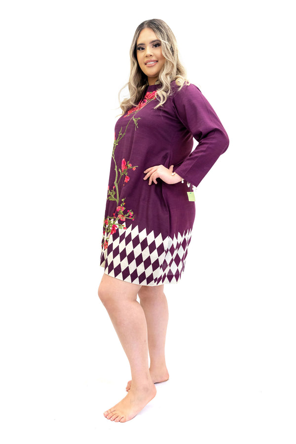 Plum Cotton Kurti - Sana Safinaz - Women's South Asian Designer Wear