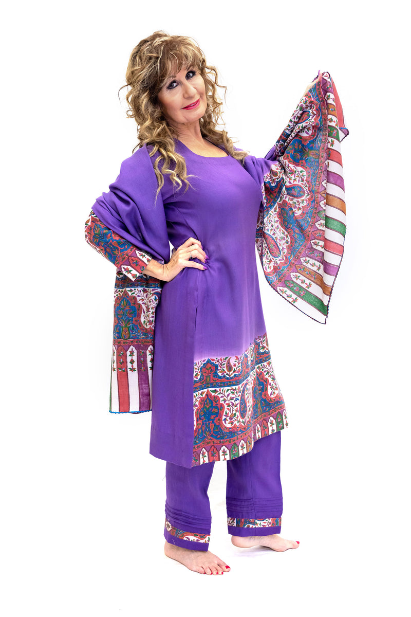 Purple Salwar Kameez - Suit - South Asian Fashion & Unique Home Decor