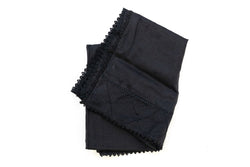 Black Chiffon Dupatta - Scarf- South Asian Accessories & Outerwear
