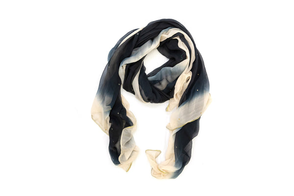 Black Ombre Chiffon Dupatta - Scarf - South Asian Outerwear
