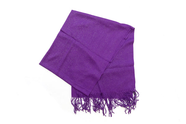 Purple Chiffon Dupatta - Scarf - South Asian Accessories & Outerwear