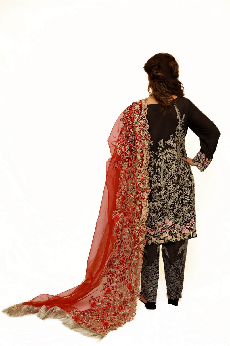 Silk and Net Shalwar Kameez - Trendz & Traditionz Boutique