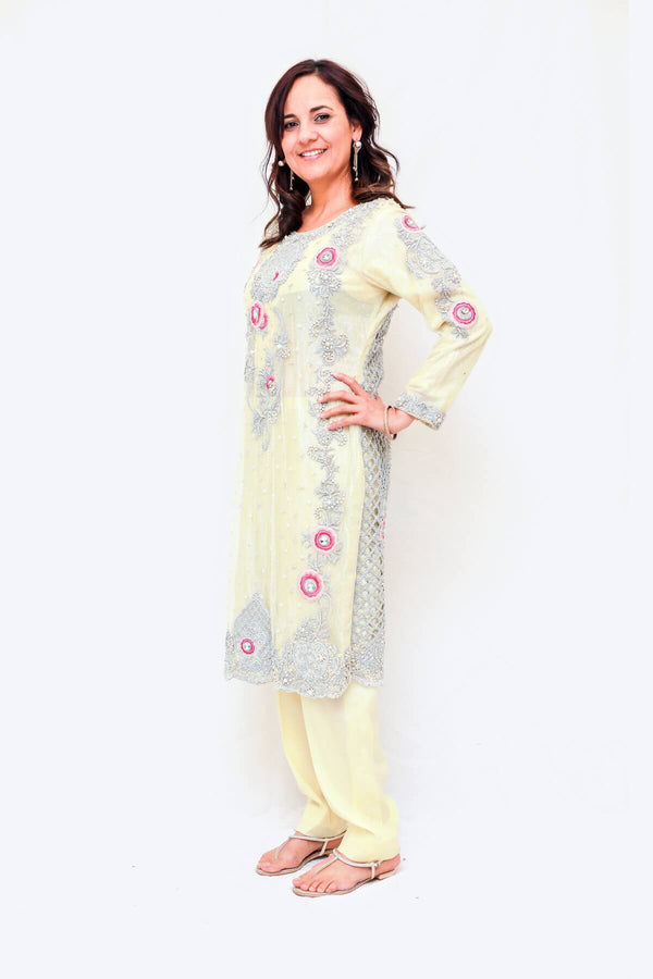 Indian Pakistani Bridal-Party Net Dress- Trendz & Traditionz Boutique