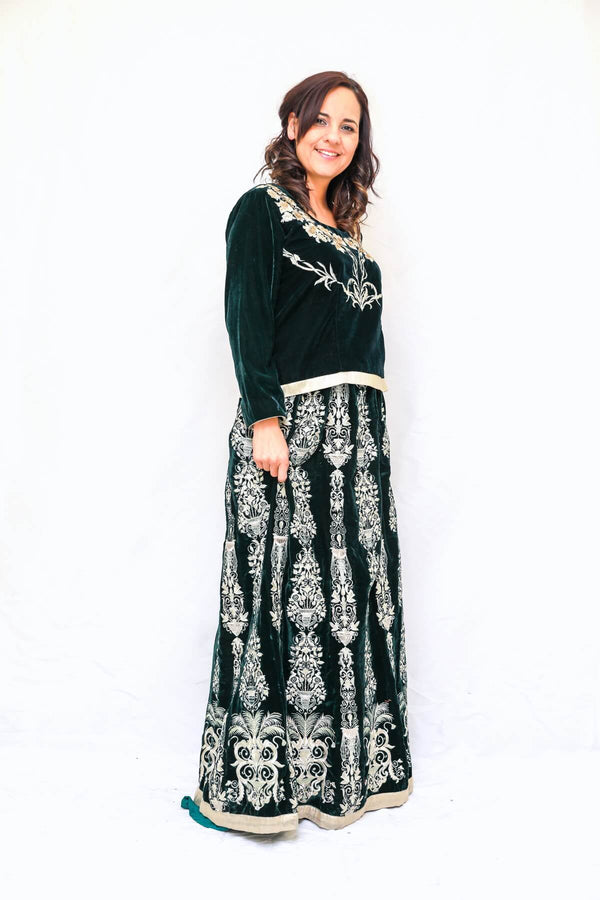 Velvet Embroidered Skirt and Blouse - Trendz & Traditionz Boutique