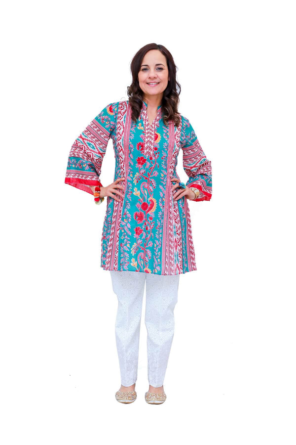 Women Lawn-Cotton Printed Kurti - Trendz & Traditionz Boutique