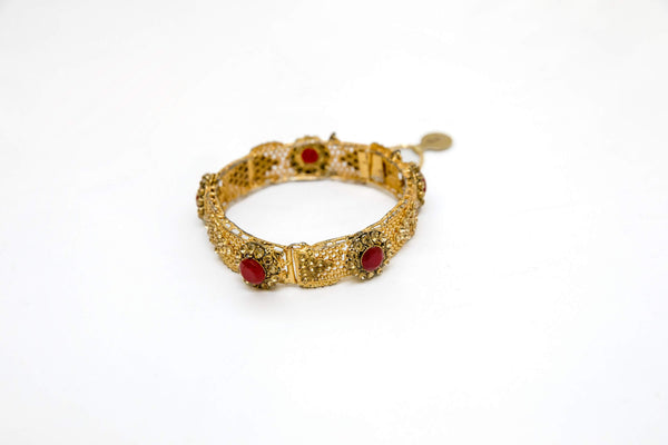Indian Pakistani Ruby Bracelet Bangle Kada - Trendz & Traditionz Boutique
